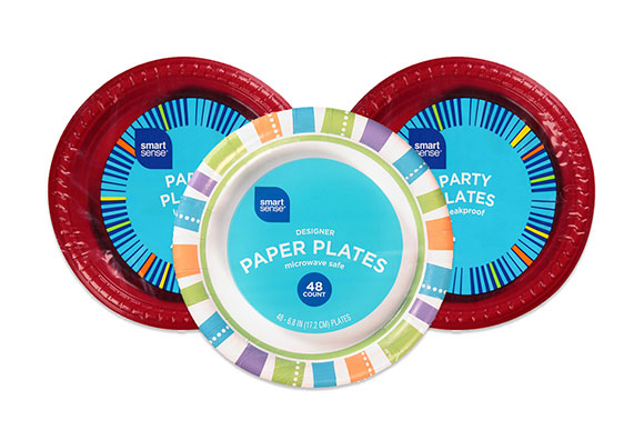 Get FREE Smart Sense Leakproof 22 Ct. Party Plates!
