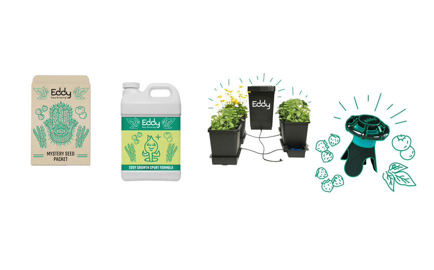 Get Free Eddy Seeds, Gardening Tools And Hydro System!