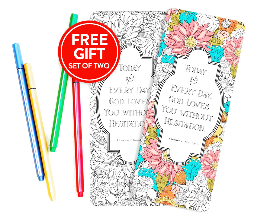 Get A Free Set of Coloring Bookmarks!
