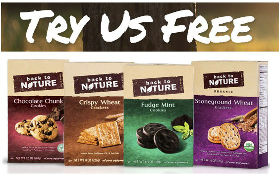 Get Free Back To Nature Cookies or Crackers! Hurry!