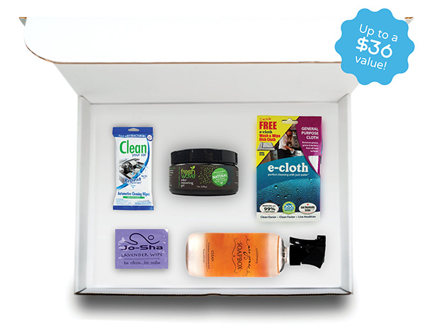 Get A Free eGermency Cleaning Product Box!
