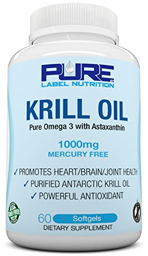 Krill Oil 1000mg with Astaxanthin PURE-K Top Rated 1
