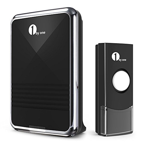 1byone Easy Chime Wireless Doorbell Kit, 1 Receiver