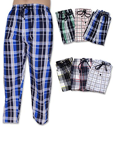 American Active Men's 3 Pack Cotton Lounge Sleep Pajama