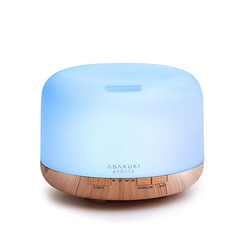 2017 ASAKUKI 500ml Premium Essential Oil Diffuser, 5 In