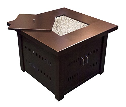 AZ Patio Heaters GS-F-PC Propane Fire Pit, Antique Bronze