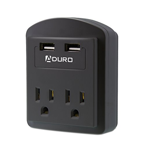 Aduro Surge Travel Size Power Portable Mini Multi Port