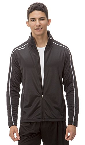 (AL003) AeroskinDry Mens Active Lifestyle Jacket in Black /