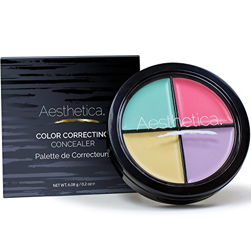 Aesthetica Color Correcting Cream Concealer Palette - Perfect for
