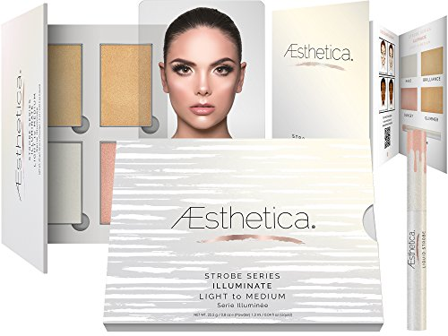 Aesthetica Strobe Series Highlighting Kit – 5-Piece Makeup Palette