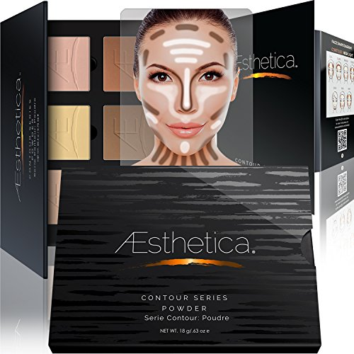 Aesthetica Cosmetics Contour and Highlighting Powder Foundation Palette /