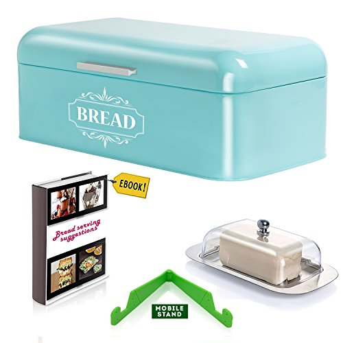 Vintage Bread Box For Kitchen Stainless Steel Metal in