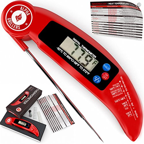 Instant Read Meat Thermometer For Grill And Cooking. UPGRADED
