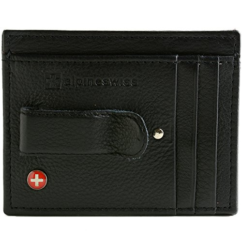 $24.99 RFID Blocking Men's Leather Front Pocket Wallet Black –