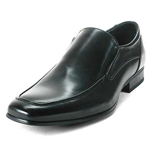 Alpine Swiss Men's Black Lucerne Slip On Loafers 7