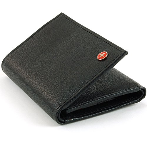 $24.99 Alpine Swiss Mens RFID Blocking Genuine Leather Card Case