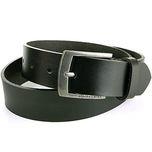 Alpine Swiss Men's Casual Jean Belt 35MM Genuine Leather