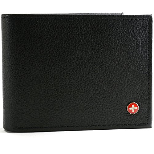 $24.99 RFID SAFE Alpine Swiss Men's Leather Wallet Hybrid Bifold
