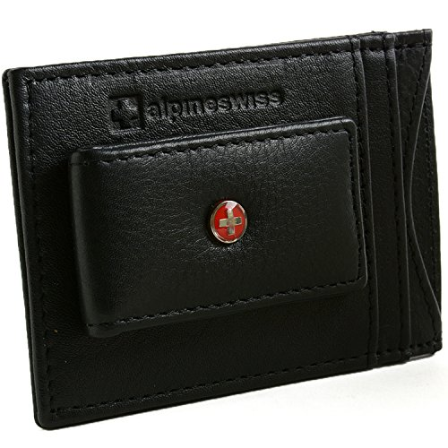 $24.99 RFID Blocking Men\'s Leather Front Pocket Wallet Black -