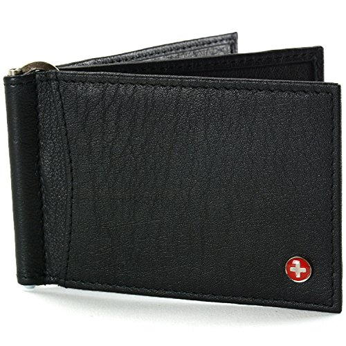 $24.99 Alpine Swiss RFID Blocking Mens Leather Deluxe Spring Money