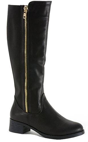 $34.99 Alpine Swiss Davos Women's Knee Length Riding Boots Black