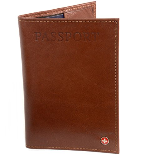 AlpineSwiss RFID Blocking Leather Passport Cover ID Protection Travel