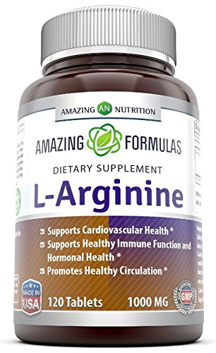 Amazing Nutrition L-arginine 1000 Mg 120 Tablets - Supports
