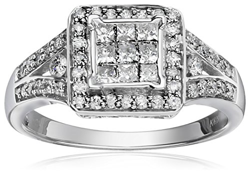 $599.99 10k White Gold Diamond Engagement Ring (3/4 cttw, I-J