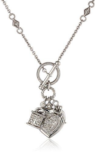 $127.00 Sterling Silver Heart, Lock and Key Toggle Charm Diamond