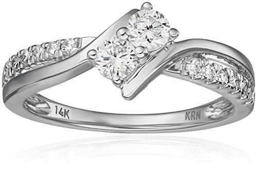 $699.99 Two Stone Diamond 14k White Gold Ring (1/2cttw, H-I