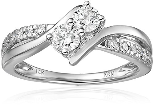 $999.99 Two Stone Diamond 14k White Gold Ring (3/4cttw, H-I
