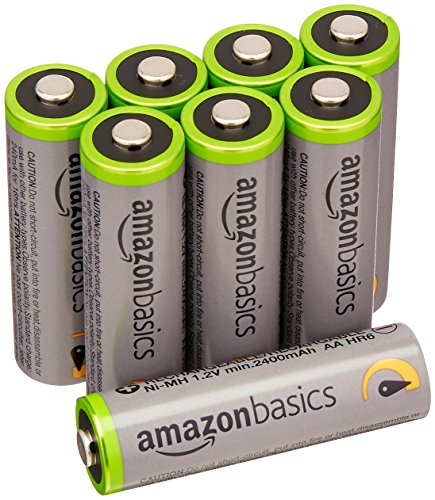 AmazonBasics AA High-Capacity Rechargeable Batteries (8-Pack) Pre-charged – Packaging