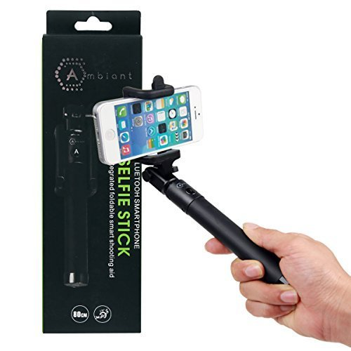 Ambiant Bluetooth Selfie Stick, Black