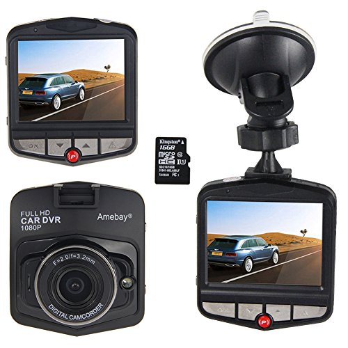 Amebay Dash Cam 2.4'' FHD 1080P Car Vehicle Dashboard