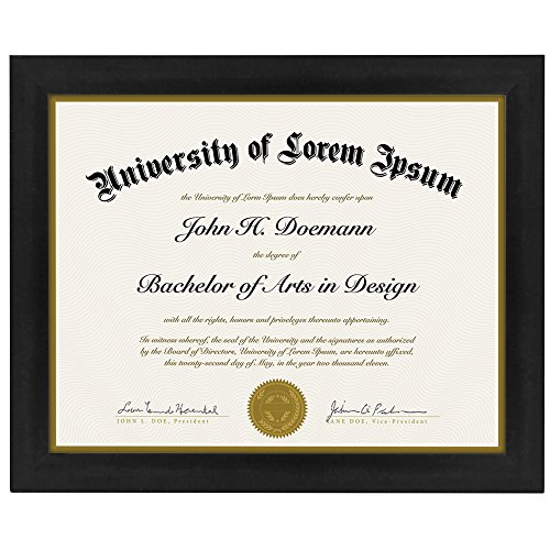 Document Frame - Made to Display Certificates 8.5x11 Inch