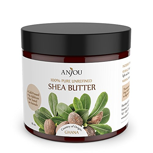 Anjou 16-Ounce African Shea Butter for Skin and Hair