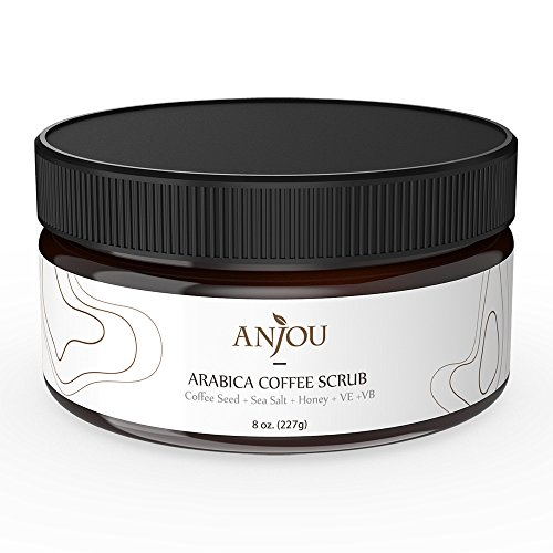 Anjou Arabica Coffee Scrub with Honey, Sea Salt, Jojoba