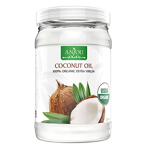 Anjou Coconut Oil 32 Oz, Organic Extra Virgin, Cold