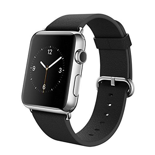 Apple Watch (38MM) Stainless Steel Case with Black Classic