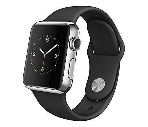 Apple Watch 38mm Stainless Steel Case w/ Black Sport