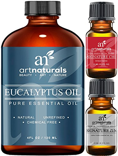 Art Naturals Eucalyptus Essential Oil 4.0 oz 3pc Set