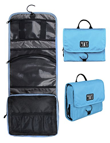 BAGSMART Hanging Toiletry Kit Travel Bag Cosmetic Carry Case