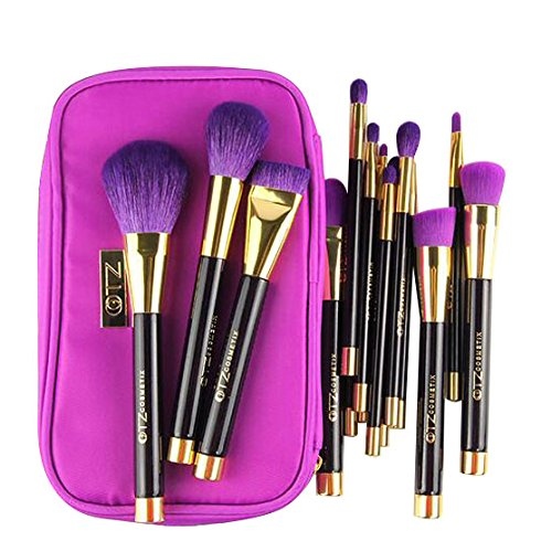 Terrece TZ 15-Piece Makeup Brush Kit with Bag and