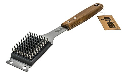 Barbecue Grill Brush and Scraper - Extended, Large Wooden
