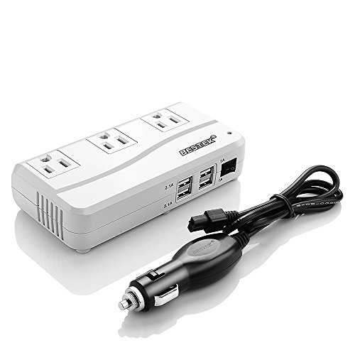 BESTEK 200W Power Inverter 3 AC Outlets with 4.2A