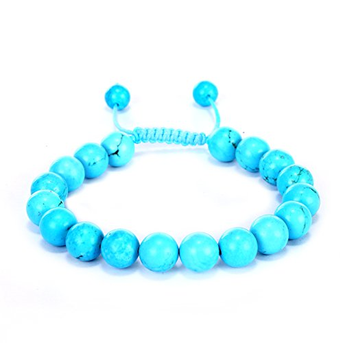 BRCbeads Gemstone Bracelets Chinese Blue Turquoise Enhance Color Birthstone