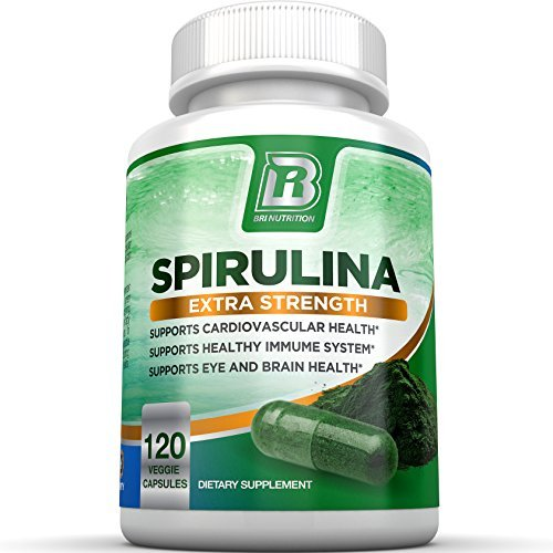 BRI Nutrition Spirulina – 2000mg Maximum Strength Supplement –