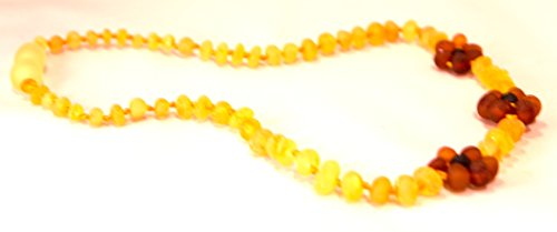11 Inch Raw Unpolished Lemon Flower Baltic Amber Teething