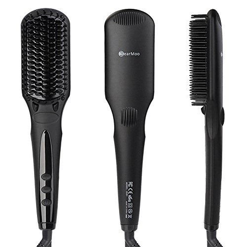 Hair Straightening Brush, BearMoo Best Brush Hair Straightener for