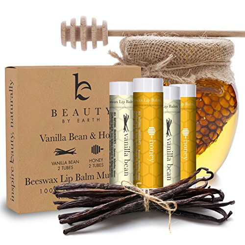 Lip Balm Vanilla Bean  Honey (4 pack), With